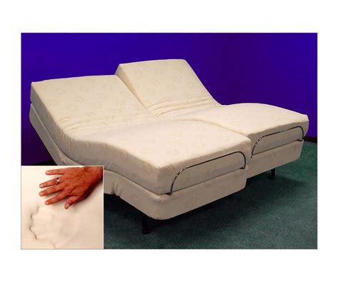 adjustable beds with memory foam split king cal king split ebay