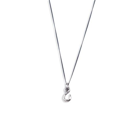 the republic fish hook necklace silver surfbikini
