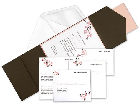 wedding invitation with pocket diy pocket wedding invitation kits invitation librarry