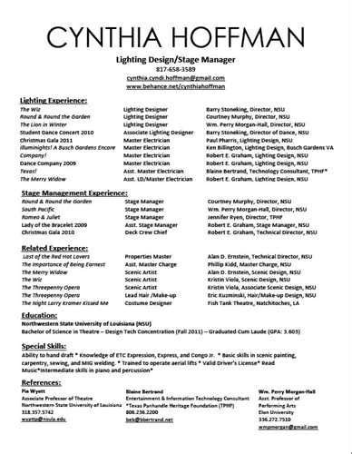 Performing Arts Resume by 38 Best Images About Arts Resume Portfolio List On