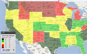 map of us universities united states map of community rating of universities by