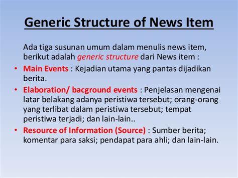 generic structure dari teks biography conditional sentences subjunctive news item