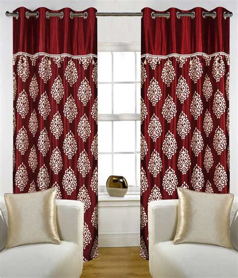 house curtains home candy set of 4 door eyelet curtains paisley red buy