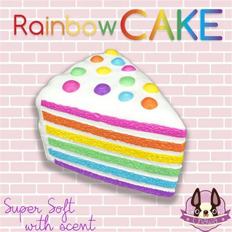 Squishy Rainbow Cake by Chawa Jumbo Rainbow Cake Squishy Scented