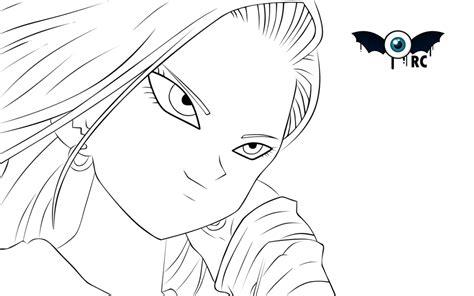 imagenes de krilin a lapiz androide 18 by retinascrew on deviantart