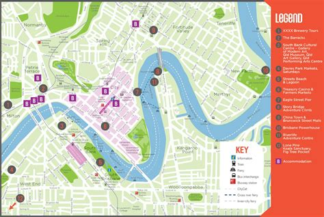 tourist map australia brisbane tourist map
