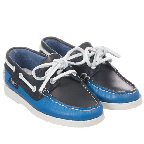 boat shoes london hackett london boys blue leather boat shoes childrensalon