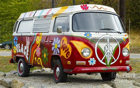 volkswagen van hippie interior 1960s vw hippie van canvas print canvas art by michael