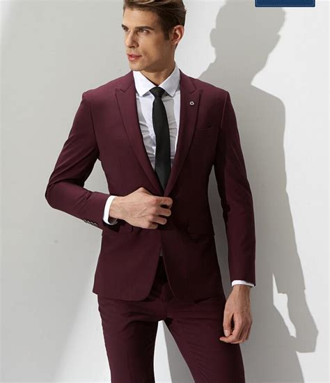 wine color tuxedo discount wine s casual suit s formal fashion