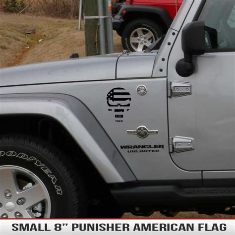 jeep cherokee american flag 8 quot universal punisher american flag alphavinyl