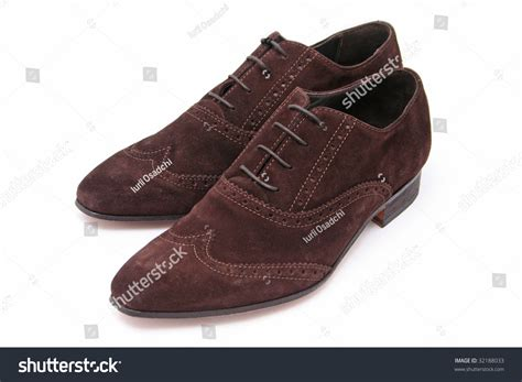Official Winter Shoes Massimo Italiano Brown Formal Shoes Brown Suede Shoes Stock Photo 32188033