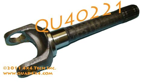 Outer New Tone 1 qu40221 gm 4x4 front outer stub axle shaft