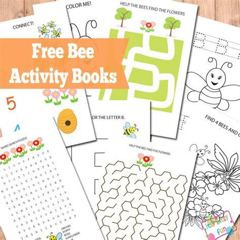 Printable Activities For Children S Books   bee activity books itsy bitsy fun