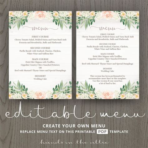 Buffet Wedding Menu Card Template by 50 Best Wedding Place Cards Images On Wedding