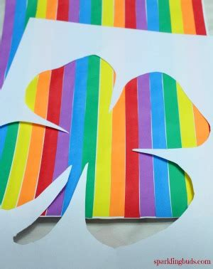 rainbow crafts for rainbow craft ideas rainbow shamrock sparklingbuds