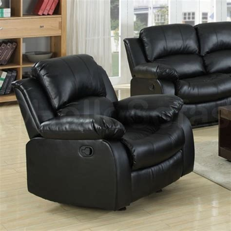 Black 2 Seater Recliner Sofa by Knightsbridge Black Leather Recliner 3 2 Seater Sofa