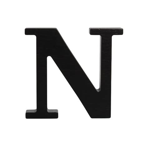 Letter N wooden letter n black
