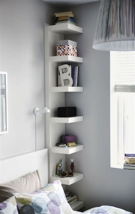 bedroom corner shelf a few useful decorating ideas for small bedrooms