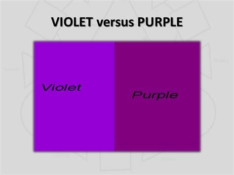 what s the difference between color and colour violet vs purple difference www pixshark images