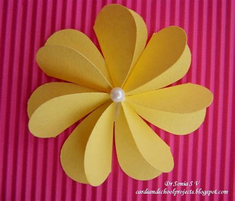 how to make paper flowers for cards 17 best ideas about card crafts on card ideas