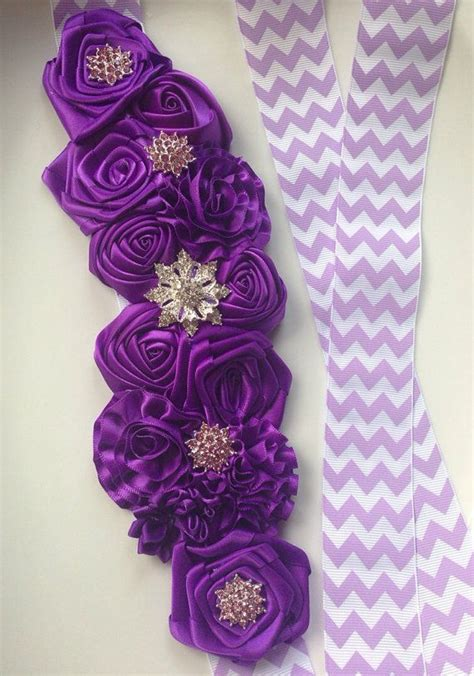 Bando Purple Flower 181 best images about flower maternity sash on