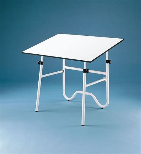 Alvin Drafting Table Onyx White Base 30x42 Top Alvin White Drafting Table