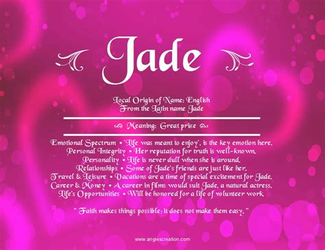 jade unique names