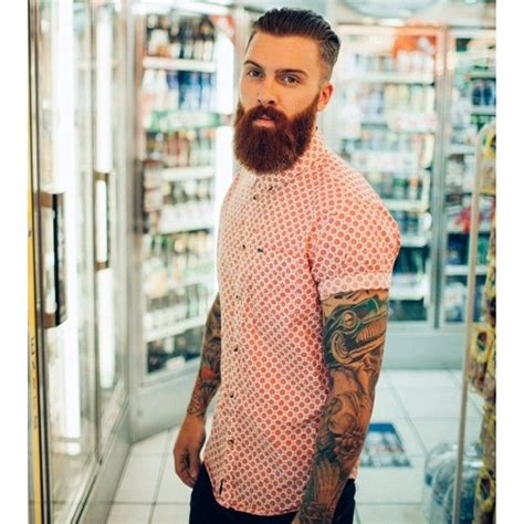 tattoo inspired clothing thick beard and mustache beards bearded