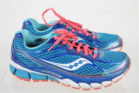 asics blue teal saucony ride 7 offset power grid lace running shoes size 7 ebay