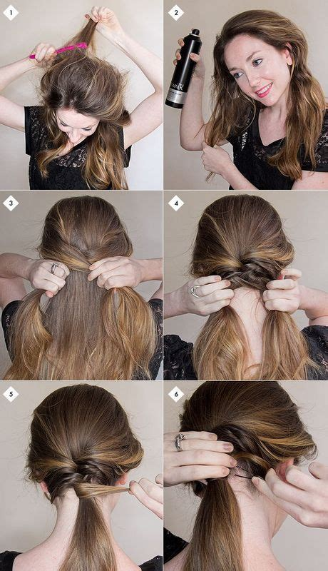 easy diy hairstyles for long curly hair cute updo hairstyles step by step prettydesigns com
