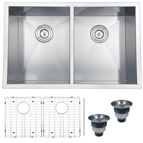 30 stainless steel sink ruvati undermount stainless steel 30 in 16 50 50