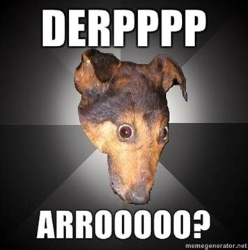 Derp Dog Meme - derp dog by happyfeet19942008 on deviantart
