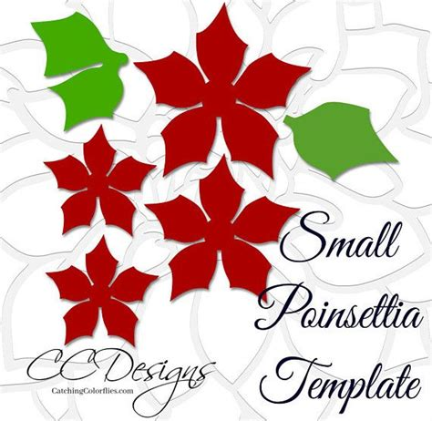 paper poinsettia flowers pattern paper poinsettia flowers flower templates svg cut files