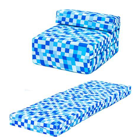kids foam couch bed blue pixels kids single chair bed sofa z bed seat foam