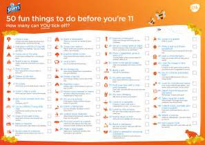 Things To Do 50 Things To Do Before You Re 11