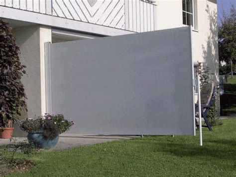 wandgestaltung wohnzimmer edelstahl windschutz - Terrasse Sichtschutz