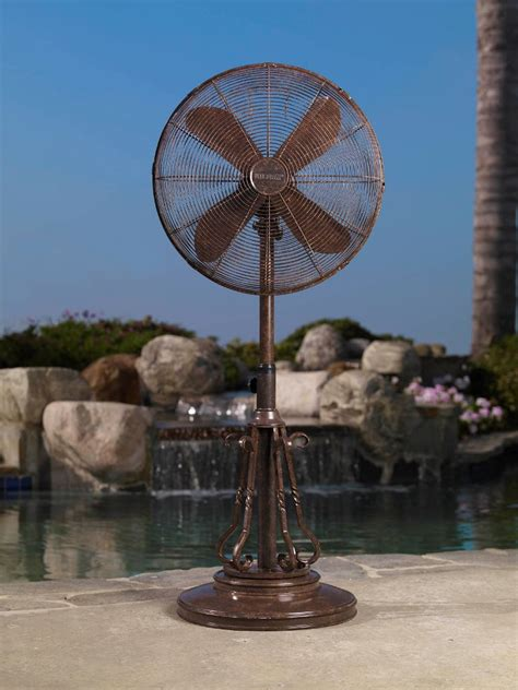 Outside Patio Fans dbf0620 marbella outdoor patio fan floor standing outdoor fan by deco