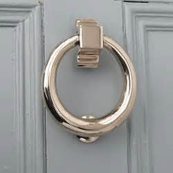 Door Knocker by Polished Nickel Hoop Door Knocker