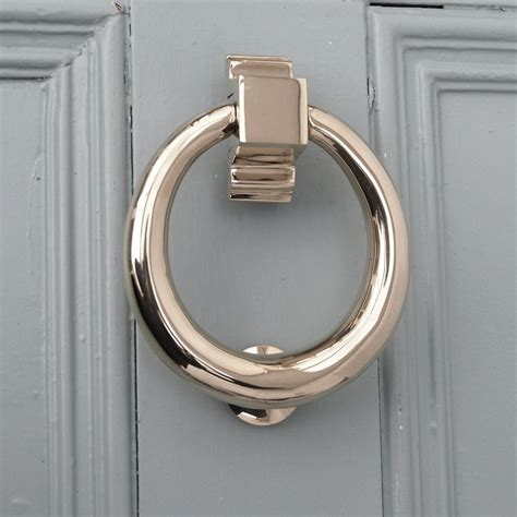 door knockers polished nickel hoop door knocker