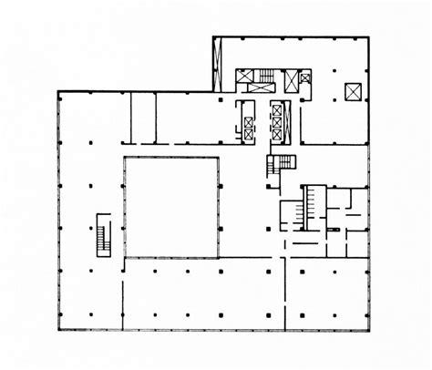 lever house plan gordon bunshaft and som at nueva york lever house metalocus