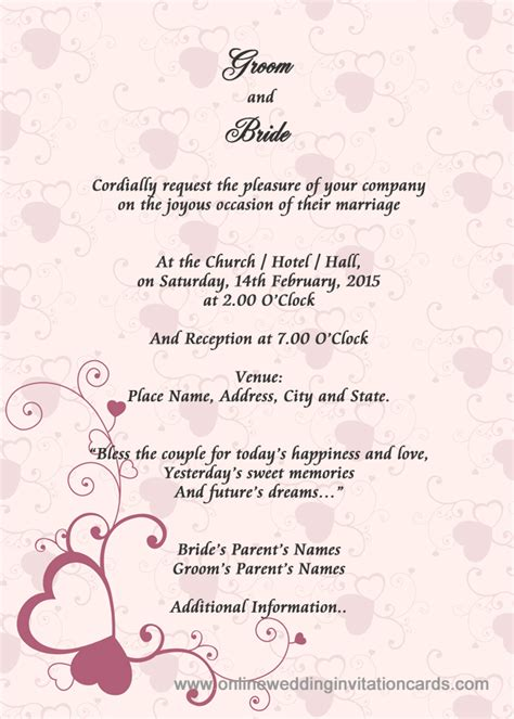 invitation cards templates for marriage sle wedding card invitation wedding gallery