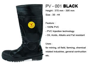 Sepatu Boot Karet Black sepatu boots petrova hitam black karet
