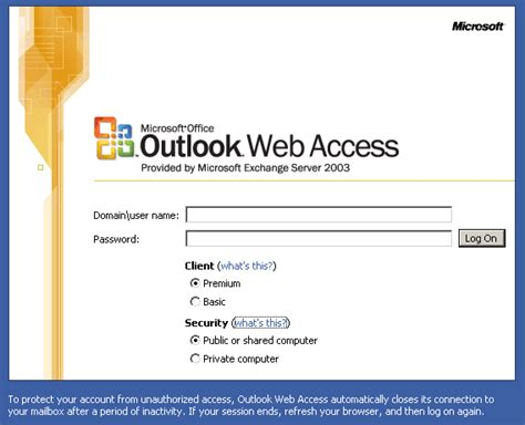 Office 365 Outlook Cannot Logon Verify You Are Connected Publish Outlook Web Access Owa Using Isa 2006 David
