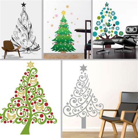 17 beautiful christmas wall decals for any room design swan