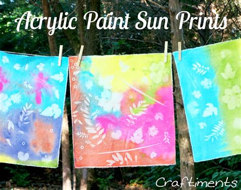 can you use acrylic paint on canvas bags craftiments acrylic paint sun prints on fabric