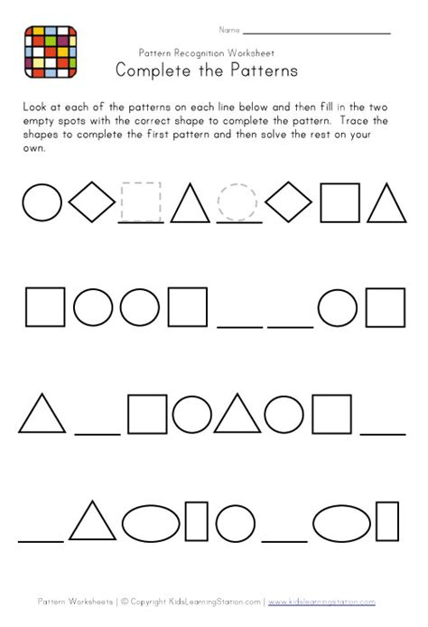 geometric pattern worksheets geometric patterns worksheet free worksheets library