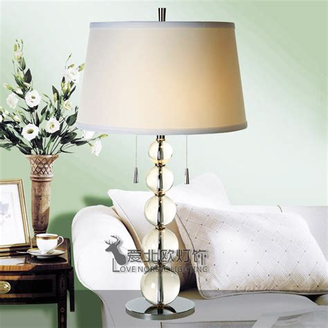 nordic ikea living room bedroom bedside lamp wrought iron crystal covers american country study