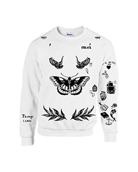 harry styles updated tattoo sweatshirt allntrends harry style sweatshirt tattoo one direction