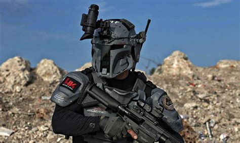 cool tactical gear boba fett project galact tac armor cool material