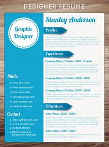 Free Designer Resume Templates by 21 Stunning Creative Resume Templates